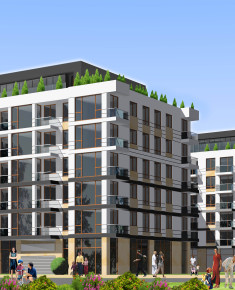 Multi-family residential building with commercial premises and car park in ul. Dalanowska 24B in Warsaw