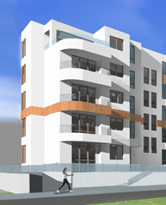 Multi-family residential building with commercial premises and car park in ul. Piotra Skargi in Warsaw